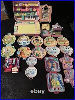 13 x Original Vintage POLLY POCKET Job Lot Bundle Compacts Disco Toy Pet Clock