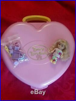 1992 Vintage Polly Pocket LUCY LOCKET CARRY N PLAY DREAM HOME & Doll ++