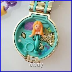 1993 Seashine Mermaid Locket Polly Pocket COMPLETE Vintage