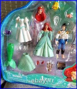 Disney Parks Polly Pocket Ariel Little Mermaid prince Eric wedding playset NEW