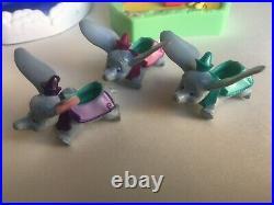 Disney magic kingdom polly pocket vintage aladdin dumbo carousel With 4 Figures
