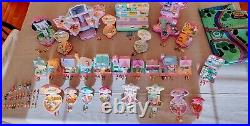 HUGE 130+ Pieces Vintage Bluebird Polly Pocket Lot with figures 1988-1994-EUC