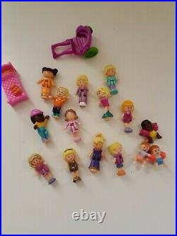 HUGE LOT Vintage Bluebird Polly Pocket Compacts, Play sets Figures with dolls