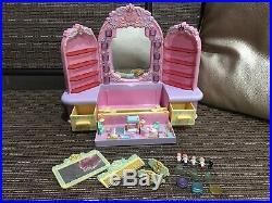 Huge Lot of Vintage Mattel Polly Pocket Dolls & Pyjama Party Dressing Table