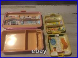 Huge Vintage Bluebird Polly Pocket Lot 1O Compacts 25 People-1989-90s