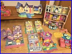 Large Lot BLUEBIRD Polly Pocket Compacts Houses People Disney Castle Cars