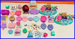 Large Vintage Bluebird Polly Pocket Lot Figures, Compacts, Accessories, & More