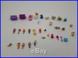 Large Vintage Polly Pocket Lot 90s Compacts, Dolls Figures, Buildings Houses
