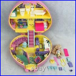 Lucy Locket Large Dream House with Polly Pocket Doll Heart Case 1992 Bluebird Vtg