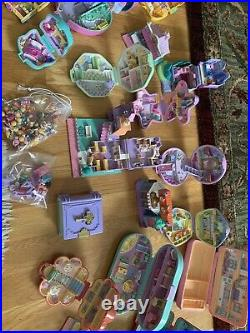 MASSIVE Lot VINTAGE POLLY POCKET BLUEBIRD COMPACTS PEOPLE HOUSES PETS etc. RARE