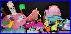 Mattel Polly Pocket lot 13 dolls playsets pets accessories clothes pool