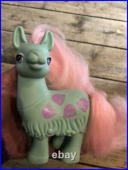 My Little Pony Dinosaur Lama Set friend Vintage Rare Yumekawa Polly Pocket