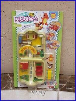 Pokemon Chibi Poke House Town Charmander, Eevee vintage(1997) Toy