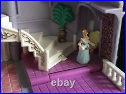 Polly Pocket Cinderella Castle % COMPLETE with Coach & Horses LIGHTS UP