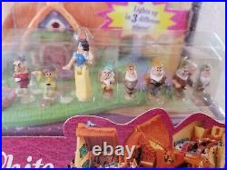 Polly Pocket DISNEY'S SNOW WHITE LIGHT UP VINTAGE TINY COLLECTION NEW