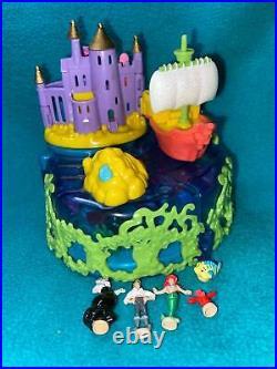 Polly Pocket Disney Little Mermaid Ariel Undersea Kingdom Under the Sea COMPLETE