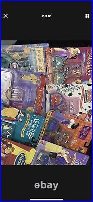 Polly Pocket Disney Locket lot of 9 Unopened COMPLETE Vintage ORIGINAL Packaging