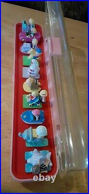 Polly Pocket RING CASE WITH 10 RINGS Vintage Complete 1989 Bluebird Toys