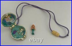 Polly Pocket Seashine Locket Set Shell And Mermaid Figure Vintage Bluebird RARE