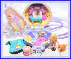 Polly Pocket VTG 1993 Polly's Fuzzy Kitten Locket Necklace Jewelry COMPLETE