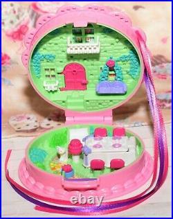 Polly Pocket VTG 1994 Birthday Surprise CAKE Compact COMPLETE Dolls Bluebird