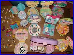 Polly Pocket Vintage Lot Cases Figures Car Stroller 1989 1996 Used Mixed Sets
