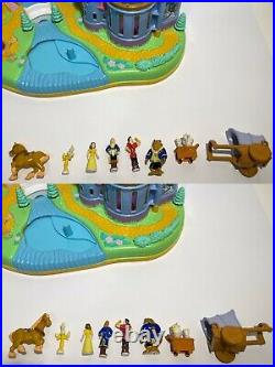 Polly pocket Beauty and the Beast Disney's Belle Magical Castle complete Vint