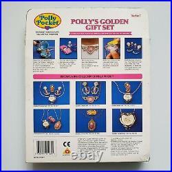 Polly's Golden Gift Set NEW Seashine Mermaid Locket Polly Pocket Vintage