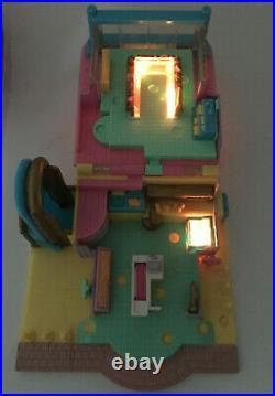 RARE Polly Pocket Supermarket 1995 LIGHTS WORK ORIGINAL DOLLS Bluebird Vintage