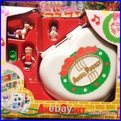 Rainbow Fairy Angel Pocket Polly Pocket Christmas Compact 2 NIB Bandai Showa