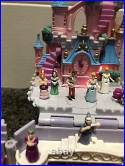 Rare Vintage Polly Pocket Cinderella Castle Fully Complete And Working VGC