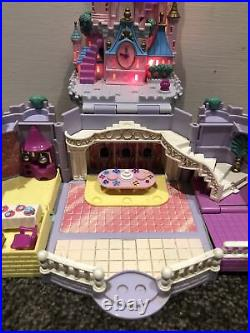 VINTAGE POLLY POCKET CINDERELLA CASTLE 99% Complete Fully Working With Figures