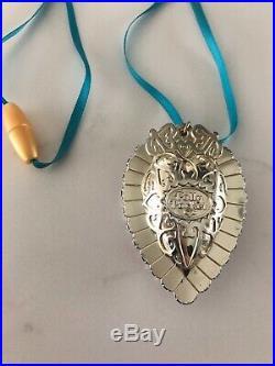 VTG Bluebird Polly Pocket 1995 RARE Crystal Heart Pendant Necklace Locket