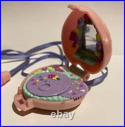 Very Rare Polly Pocket Pink Bridal Locket Vintage Toy 1996 Playset Blue Bird