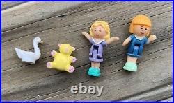 Vintage 1992 Bluebird Polly Pocket Fairy Wishing World with Swan, Bear & 2 Dolls
