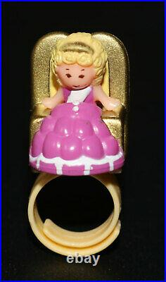 Vintage 1992 Polly Pocket Bathing Beauty Pageant Ring & Ring Case