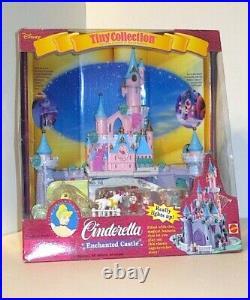 Vintage 1995 Disney Cinderella Tiny Collection Polly Pocket Enchanted Castle NEW