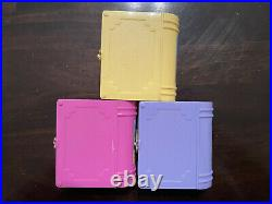 Vintage 1995 Polly Pocket Bluebird 3 Volume Storybook Set Compacts & Dolls