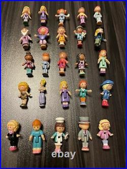 Vintage 25 Dolls Polly Pocket & Bluebird Lot Rare Supermarket, Janet, recital, boy