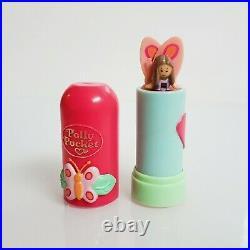 Vintage Butterfly Pop Up Lipstick Polly Pocket Complete