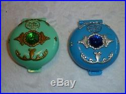 Vintage Huge Lot Bluebird Polly Pocket WithFigures 80s-90s 10 compacts jewel