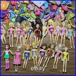 Vintage Lot Disney, Polly Pocket Dolls, Clothes and Assures GREAT CONDITION