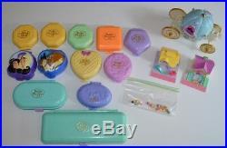 Vintage Lot Polly Pocket Bluebird Compacts Figures Disney Carriage Pencil Case