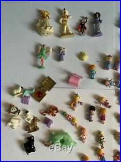 Vintage POLLY POCKET BUNDLE 43 PLAY SETS 100+ FIGURES / Etc Job Collection