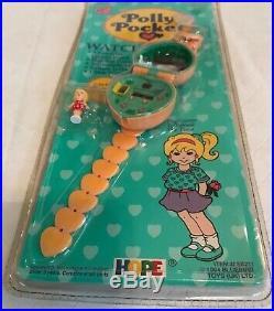 Vintage POLLY POCKET Orange Watch Heart Band 1994 BLUEBIRD Toys NEW & SEALED NIP
