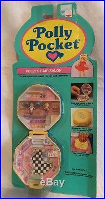 Vintage POLLY POCKET POLLY'S HAIR SALON NEW & SEALED MOC 1991 Compact