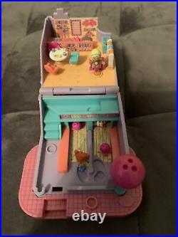Vintage Polly Pocket 1996 Bowling Alley ULTRA RARE COMPLETE SET