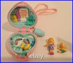 Vintage Polly Pocket BlueBird 1993 Baby and Duck Locket Necklace COMPLETE