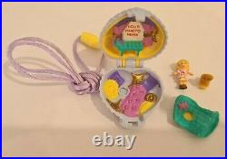Vintage Polly Pocket BlueBird 1993 Fuzzy Kitten Locket Necklace COMPLETE