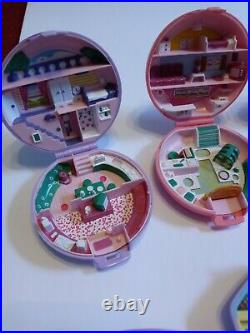 Vintage Polly Pocket Compact Lot Of 8 Plus Dolls
